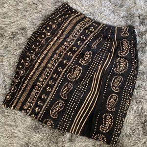 Dresses & Skirts - Linen bohemian skirt amazing print